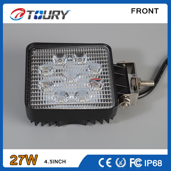 27W for Vehicle Car Truck Offroad 4WD Auto LED Work Light Lamp