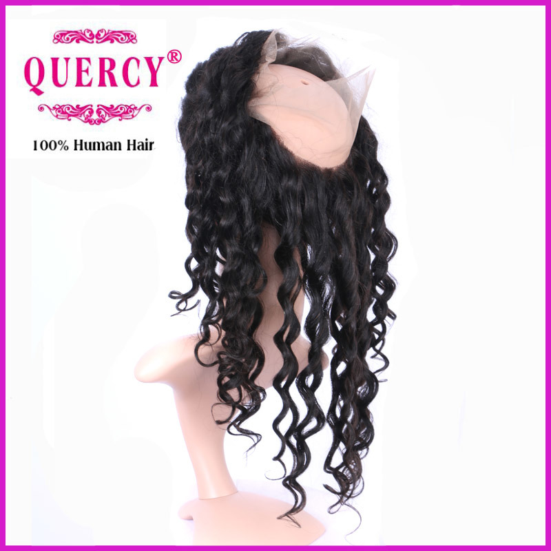 New Hot Sale Deep Curly Peruvian Virgin Remy Hair 360 Lace Frontal