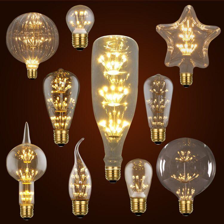 MTX Brilliant LED bulb christmas string lights bulb e27 LED bulb 110V 220V filament bulb g95 Fireworks holiday lights decor bulb for home