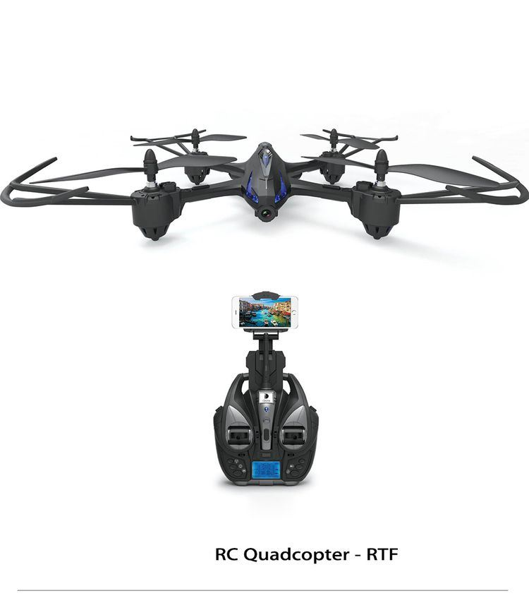 0759500-RC Quadcopter - RTF with 5MP Camera - Silver and Grey
