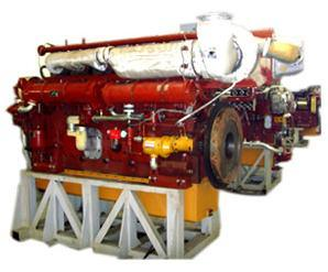 Heavy-Oil Marine Engine Water Cooled Lightweight Low Fuel Consumption