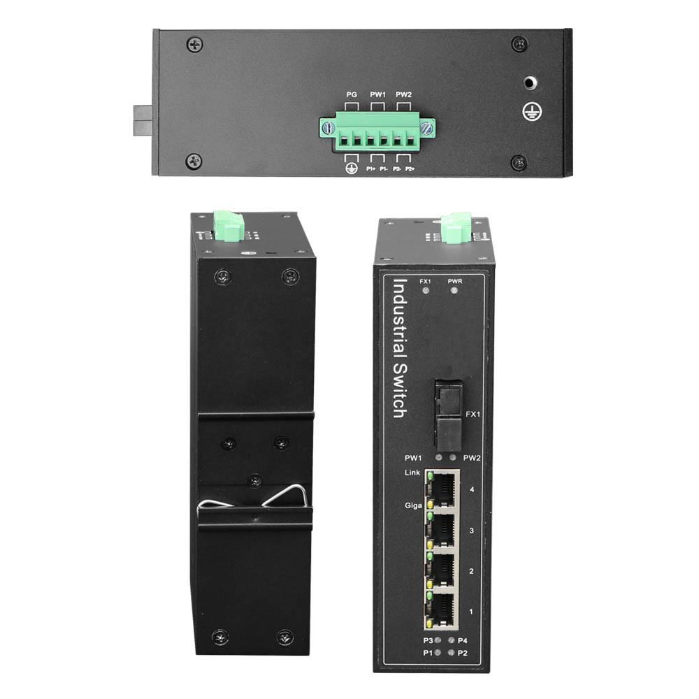 Industrial Switch 4ge+2SFP Full Gigabit Poe Optional
