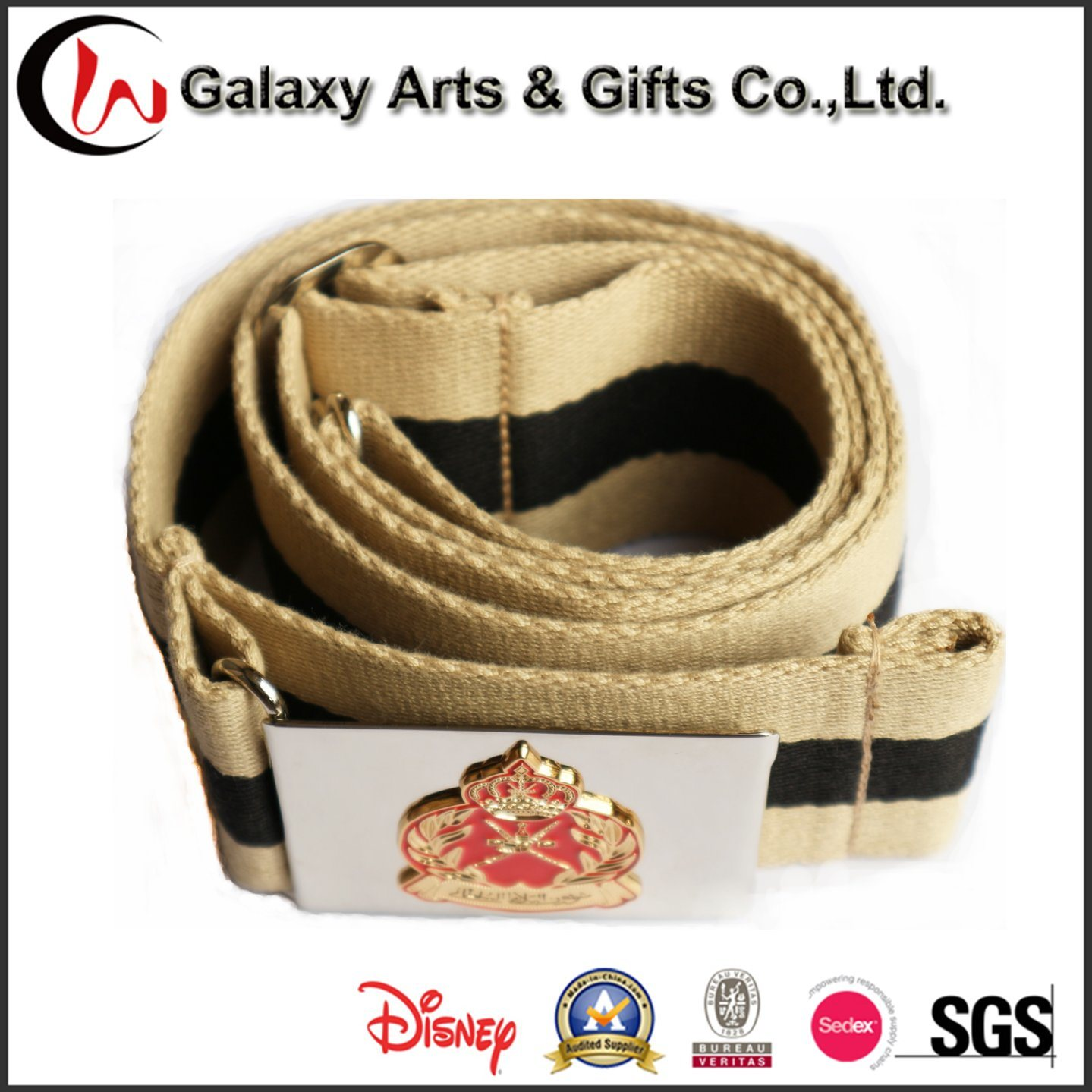Garment Accessories of Military Cotton Webbing Man′s Waist safety Metal Belt with Buckle Belt