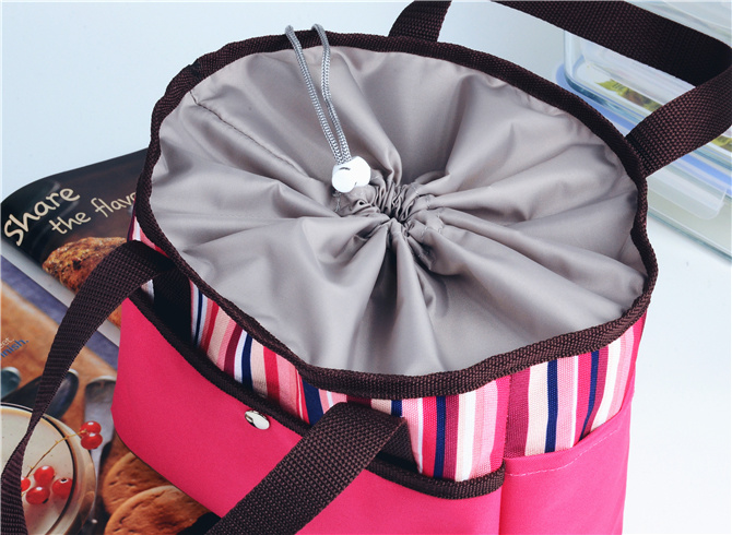 600d Figured Cloth Multifunction Handle Lunchbag