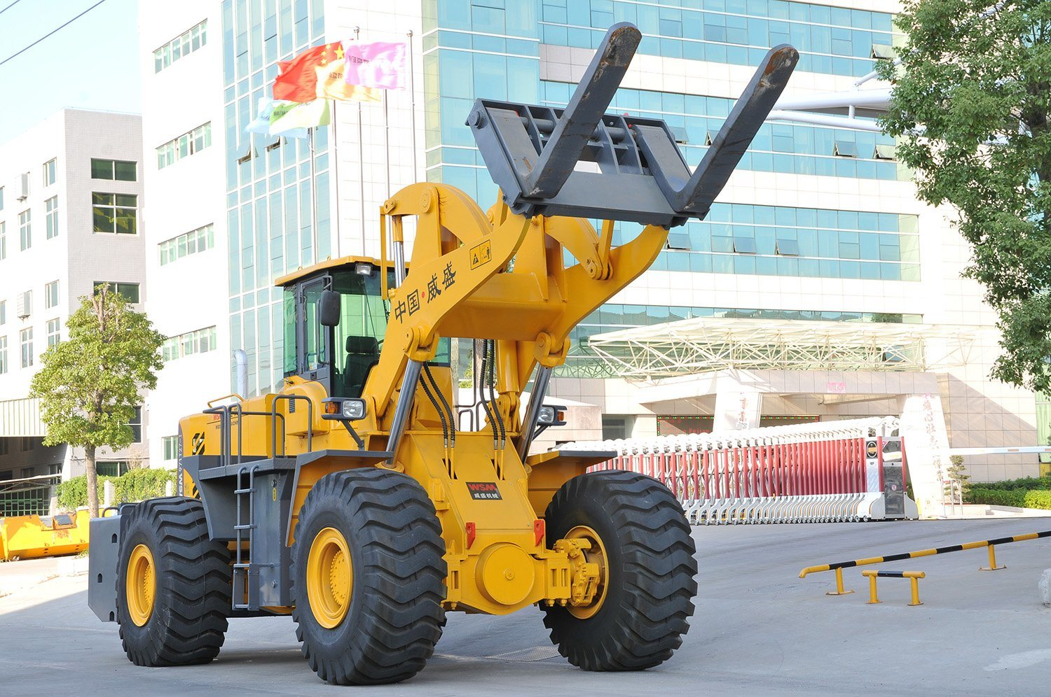 52 Tons The Biggest Wheel Loader in China for Block Mining with Ce