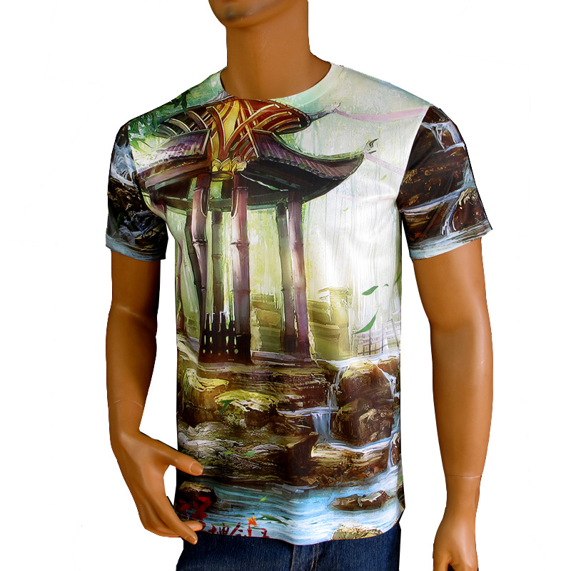 Sublimation Printing Men T-Shirt/Short Sleeve T-Shirt/ Heat Tranfer Printing T-Shirt