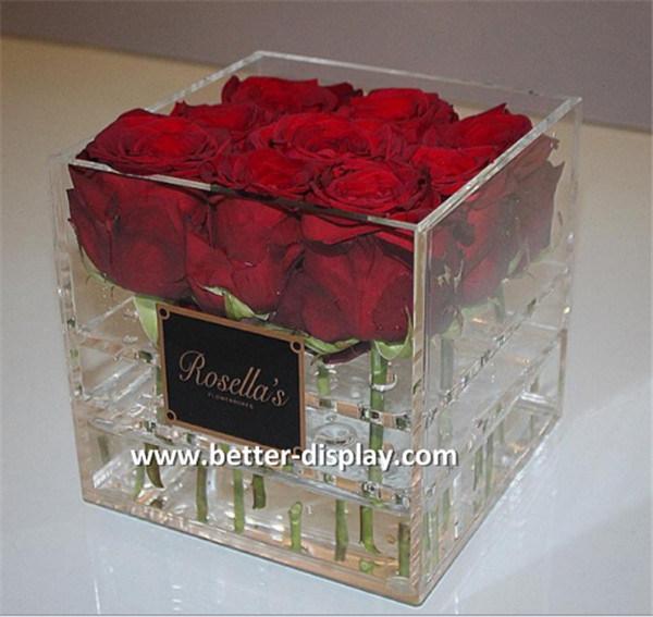 Professional Manufacturer of Acrylic Rose Box/Custom Luxury Acrylic Flower Box