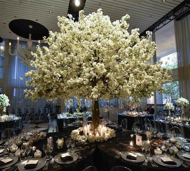 Outdoor or Indoor Decorative Pink/White Artificial Cherry Blossom Tree