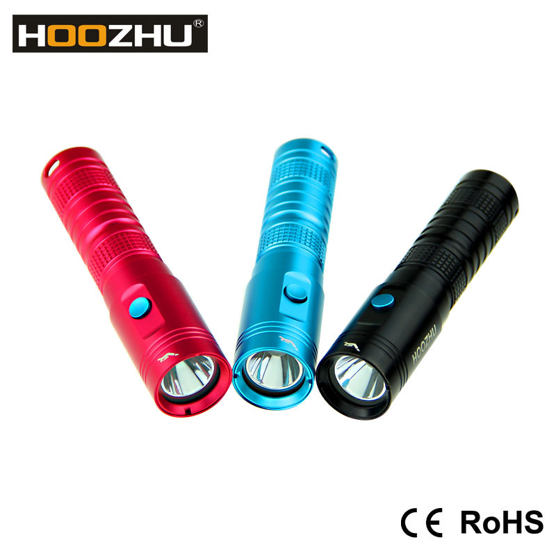 Hoozhu U10 Mini LED Flashlight 80 Meters Scuba Mini Diving Flashlight Diving Rechargeable Flashlight