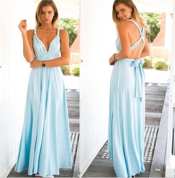2017 Hot Sale Muliti Wearing Long Magic Sexy Bandage Women Evening Dress (17012)
