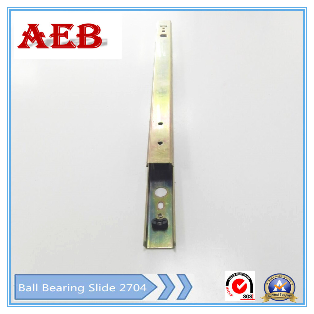 Aeb-27mm Double Type of Double Extension Ball Bearing Drawer Slide