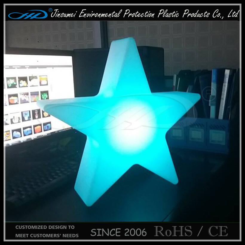 PE Plastic Small Color Change LED Decorative Star Lamp