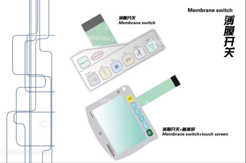 Anti-Glare Membrane Switch with PCB Board