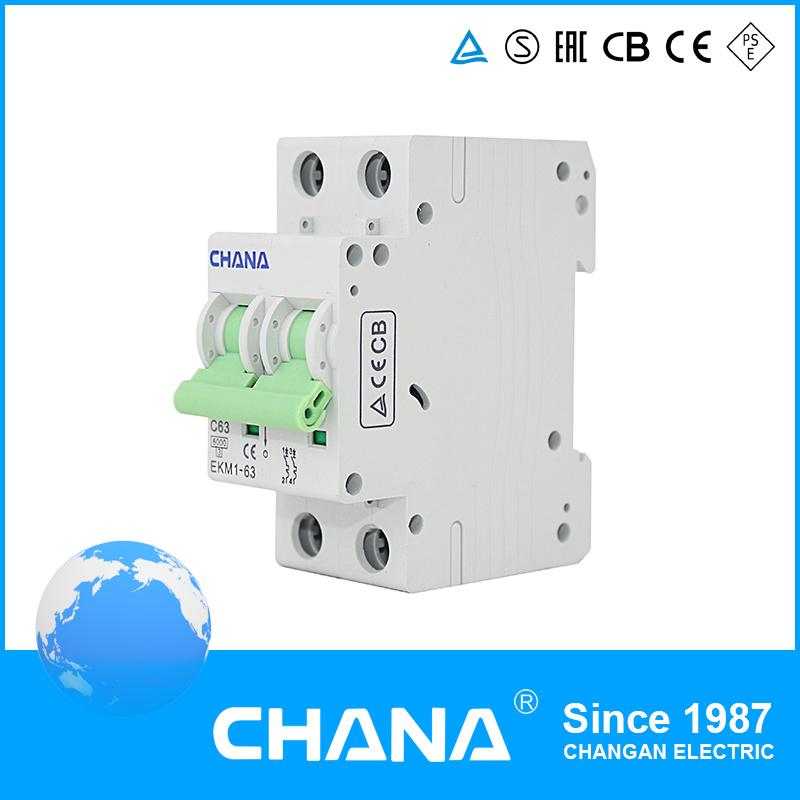 6ka/10ka Mini Circuit Breaker with TUV Approval (EKM1-63)