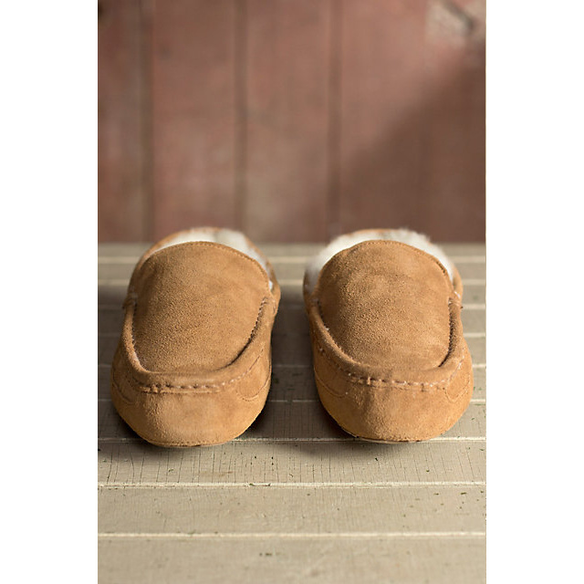 Men′s Warm Winter Sheepskin Slippers
