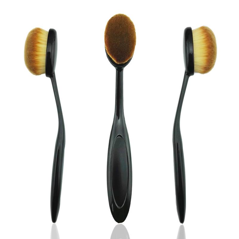 Oval Toothbrush-Shaped Powder Foundation Lip Makeup Brush with Nylon Handle