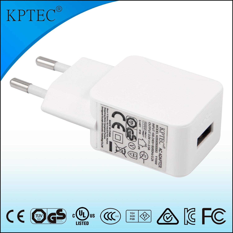 5V 1A AC/DC Adapter with Ce and RoHS Reach EU Plug