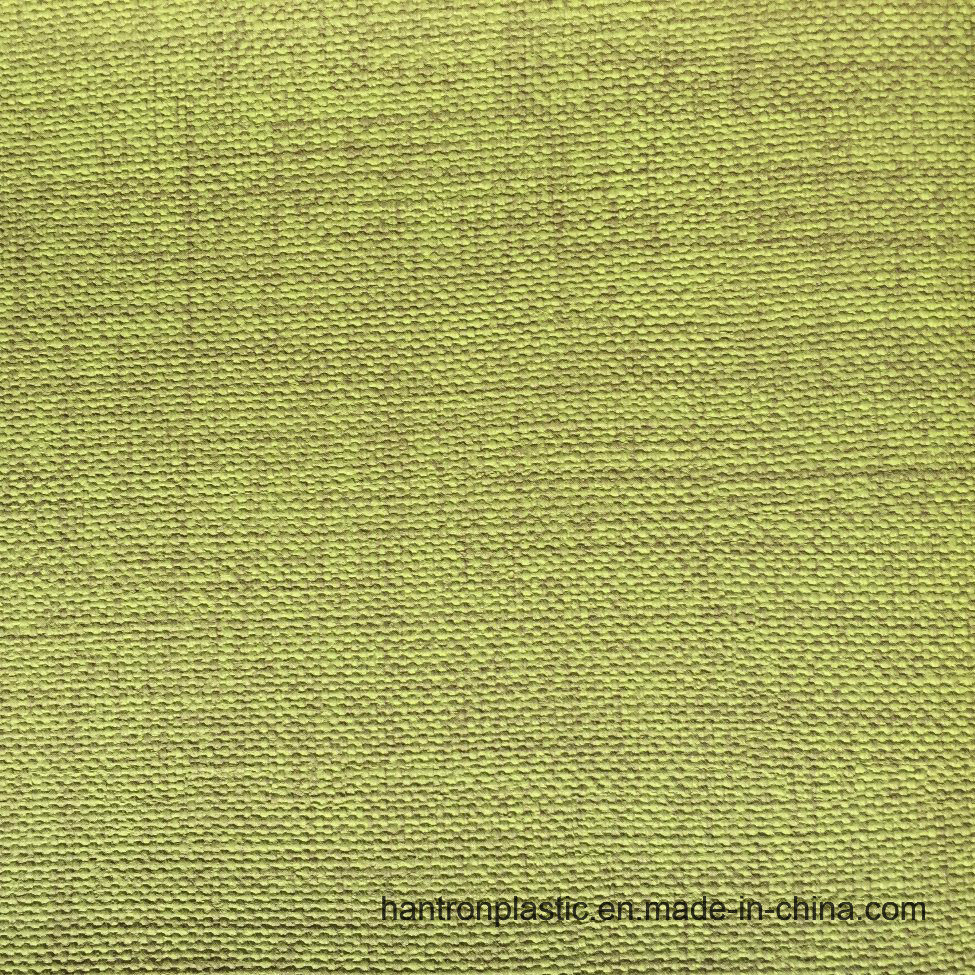 Cloth Pattern PVC Synthetic Leather for Sofa Furniture with Print