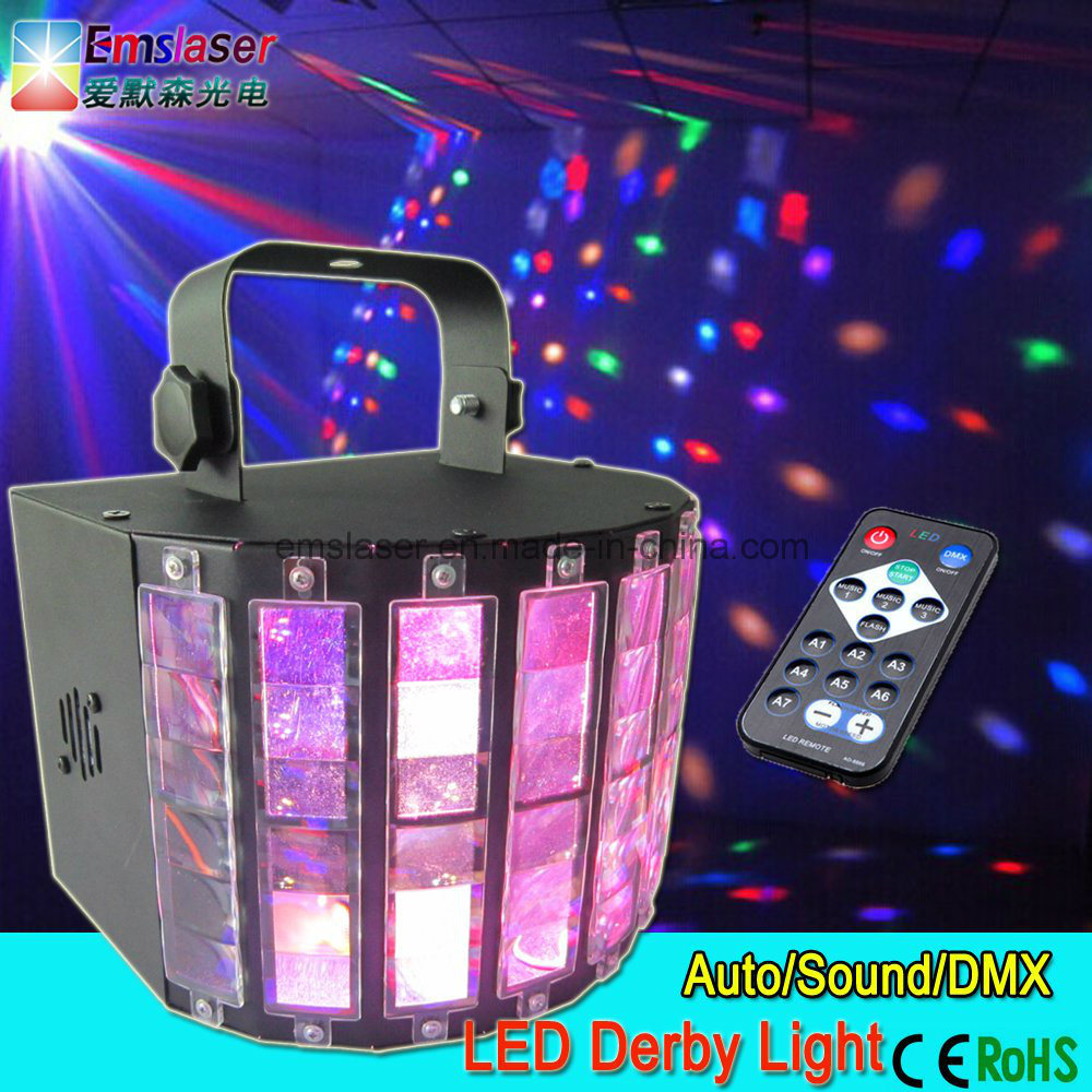 LED Super Arrow Light DMX512 Disco Stage Light LED Derby Light with Remote Control