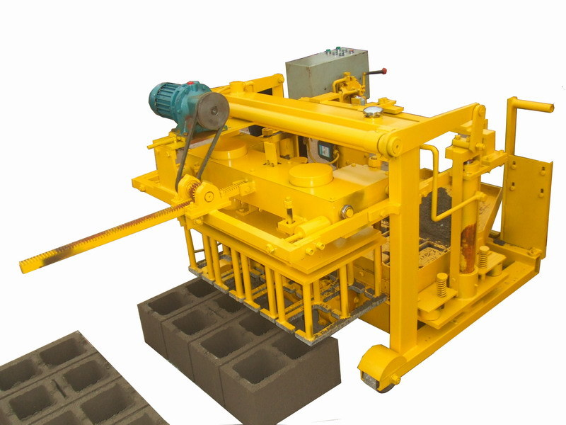Cement Block Plant Machines : China new small concrete hydraulic brick block machine