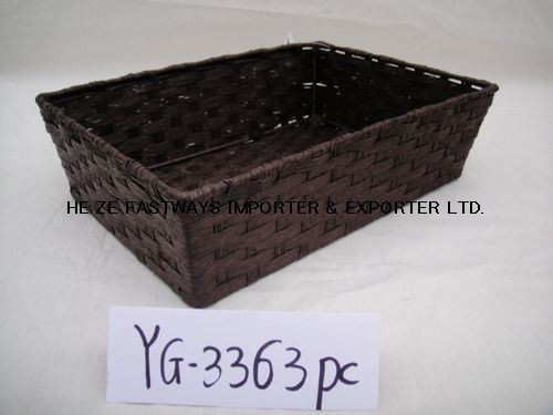 Handicraft Newspaper Basket : China pure handicrafts paper basket