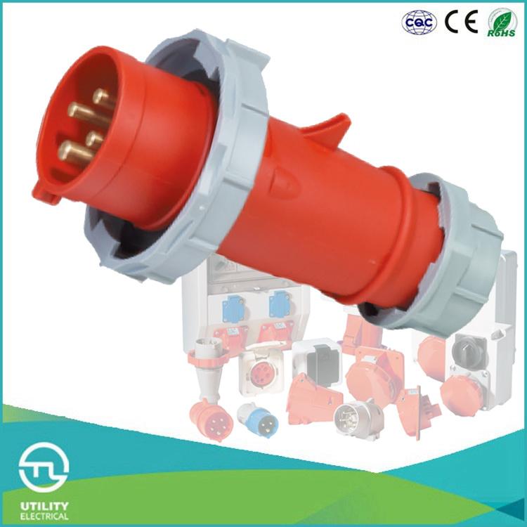 IP67 Cee/IEC Male Industrial Connector Plug International Standard