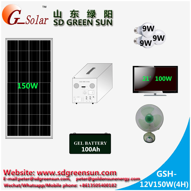 Stand Alone Solar Generator 150W with AC Output