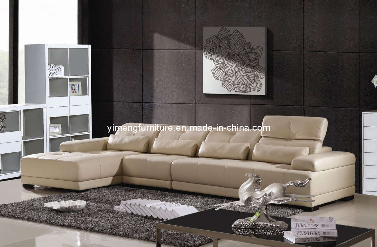 China Leather Fabric Modern Sofa 9817 China Leather