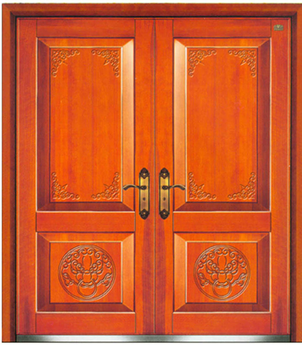 1200 #B74E14  Wooden Armored Double Door (KMH A1003) China Steel Door Double Door wallpaper Steel Double Doors Exterior 42151048