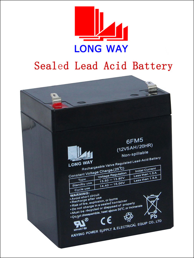 12V 5ah Children Cars UPS Rechargeable Lead Acid Battery