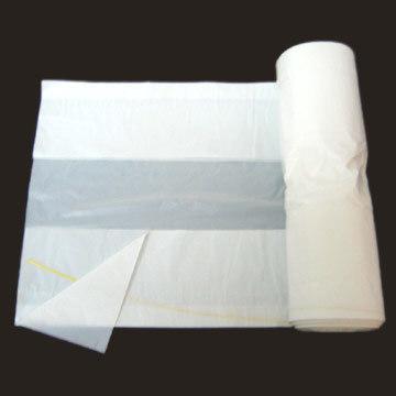 HDPE White C Fold Plastic Garbage Bag