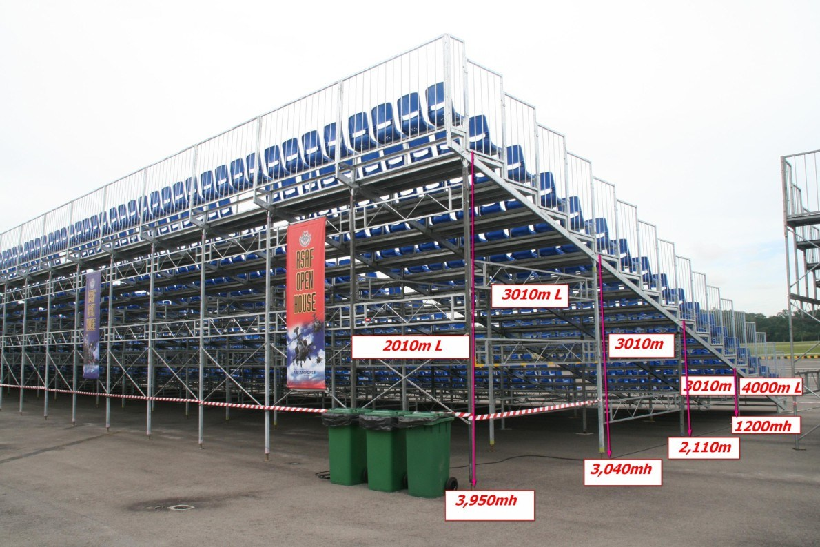 China Outdoor Plastic Seat Grandstand