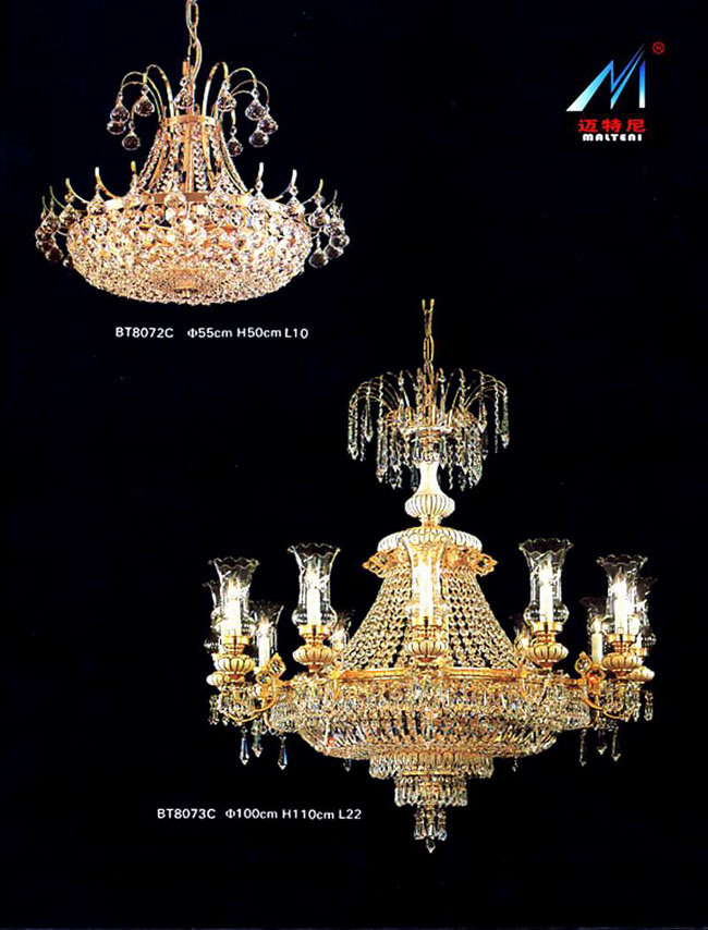 French Empire Chandelier, Opera Basket Crystal Chandelier