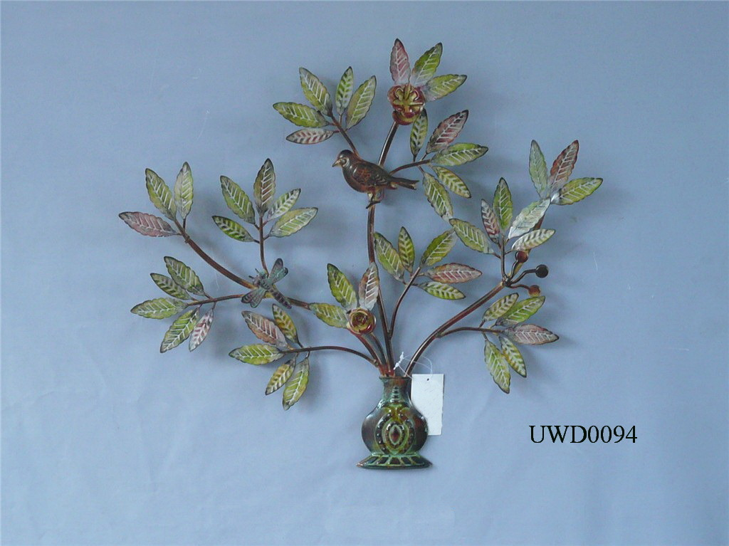 China metal wall decor uwd0094 china metal wall decor flower wall decora - Decoration mural en metal ...