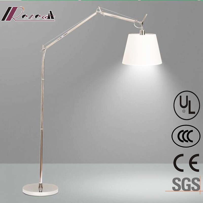 Chinese Supplier Livingroom Aluminum Reading Fish Floor Lamp