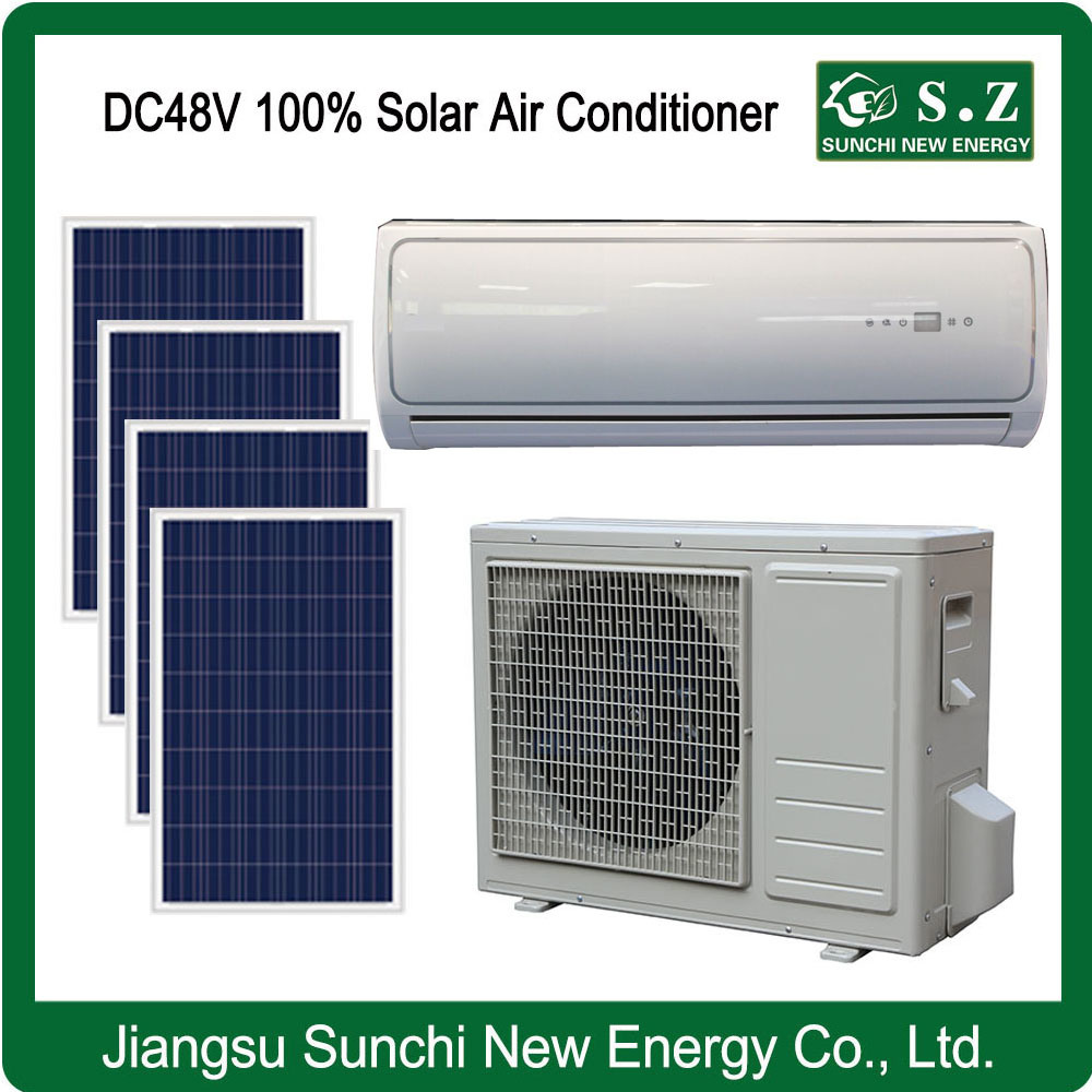 Split Wall Mounted Total DC48V 100% Solar Powered Air Conditioner/Heat