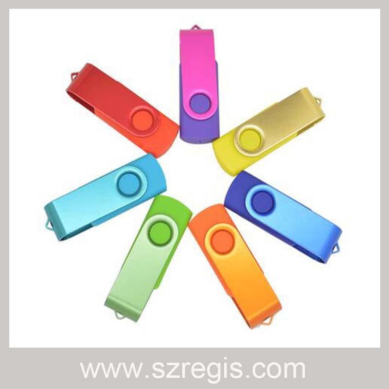 4GB/8GB/16GB/32GB Metal Rotating Gift USB Disk Flash Memory Driver