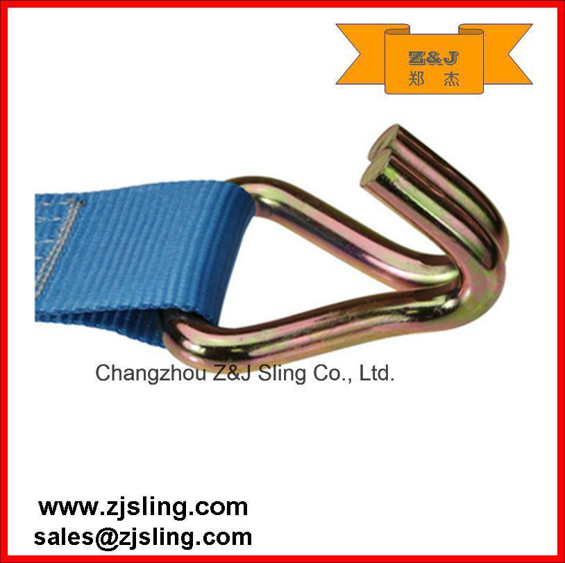 "3"" Ratchet Strap/Tie Down Wire Hooks 3"" X 30′ Blue"