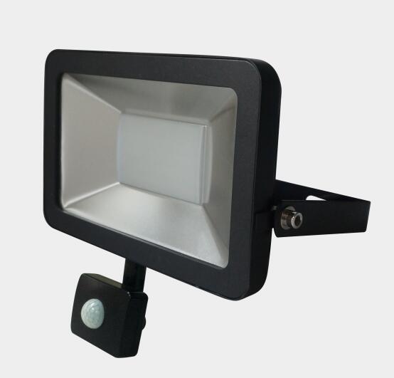 50W Slim Outdoor Garden LED Flood Light with PIR Sensor