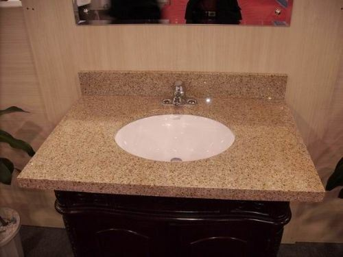 Black Granite Marble Bathroom Kithchen Vanity Tops/Countertop (Yellow G682)