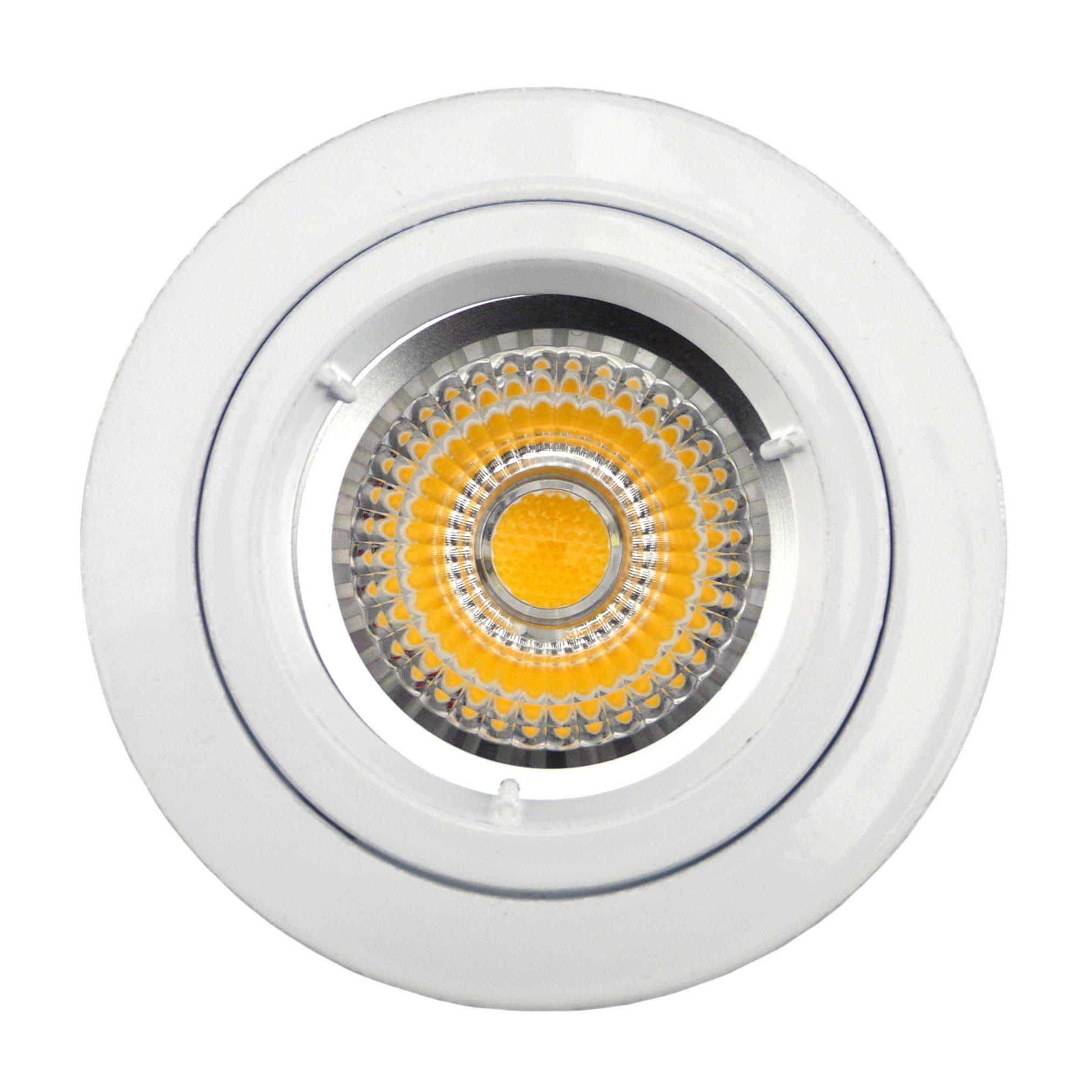 Die Cast Aluminum GU10 MR16 Fixed Recessed White Satin Nickel Round LED Light (LT1100)