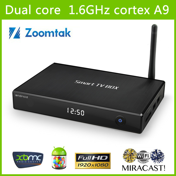 Smart TV Box, OS 4.2.2 Xbmc, WiFi. Mx Dual Core, 1080P, 3D, Google Browser Youtube, Twitter, Miracast, Flash11.1 and HTML5