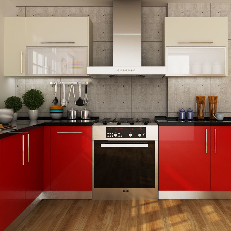 China Modern Red Laminate Project Kitchen Cabinet Design Op14 Hpl01 Photos Pictures Made
