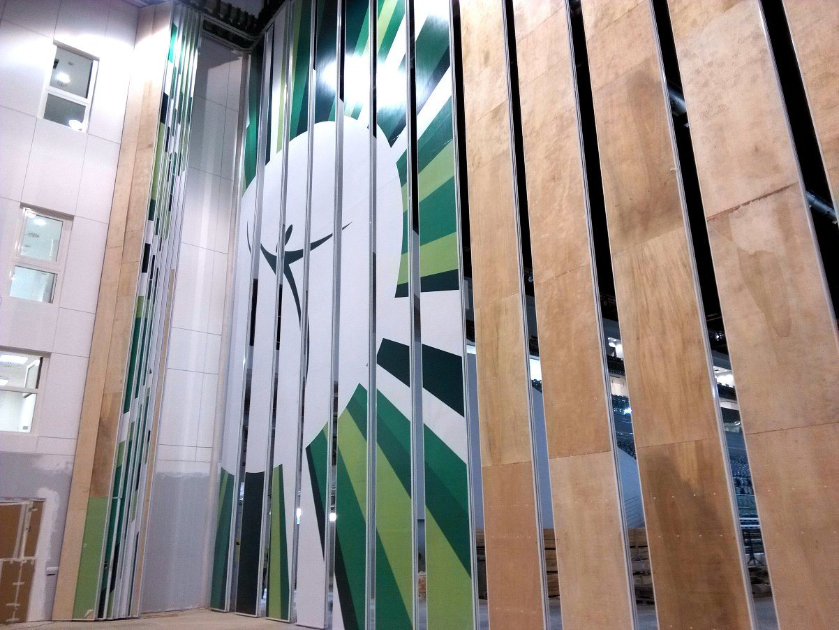 Operable Partition Walls for Exhibition Center/Gymnastic Hall