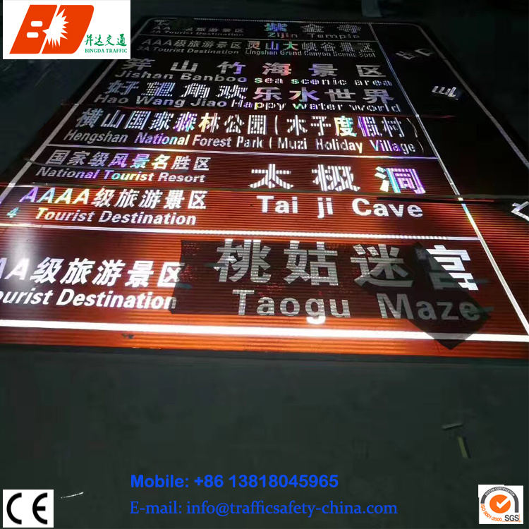 LED Indicate Traffic Sign Highway Road Safety Light Signs