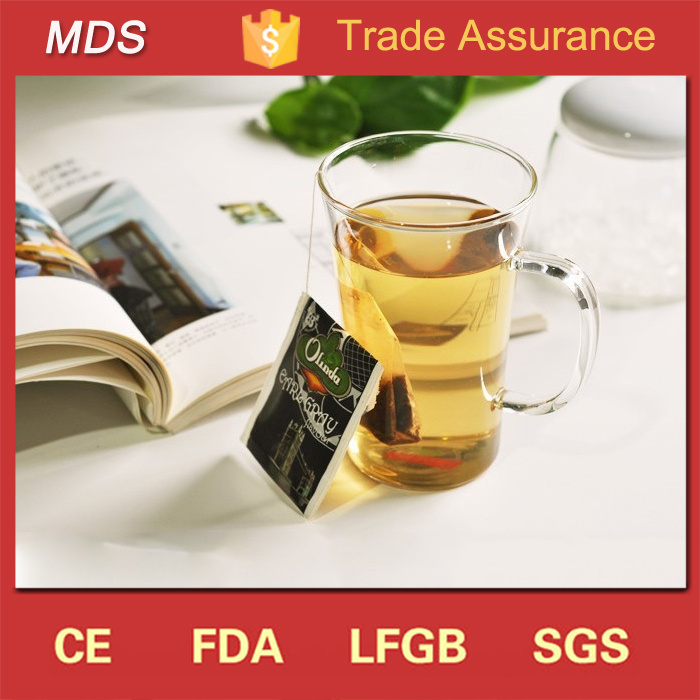 Wholesale Borosilicate Single Chinese Glass Tea Cup with Handle