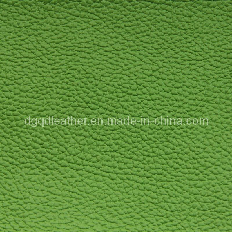 Imitation Real Leather Pattern Semi-PU Furniture Leather (QDL-1211A)
