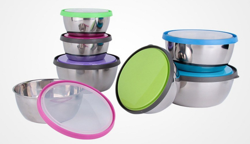 3PCS and 4PCS Stainless Steel Food Container, Lunchbox with Lid