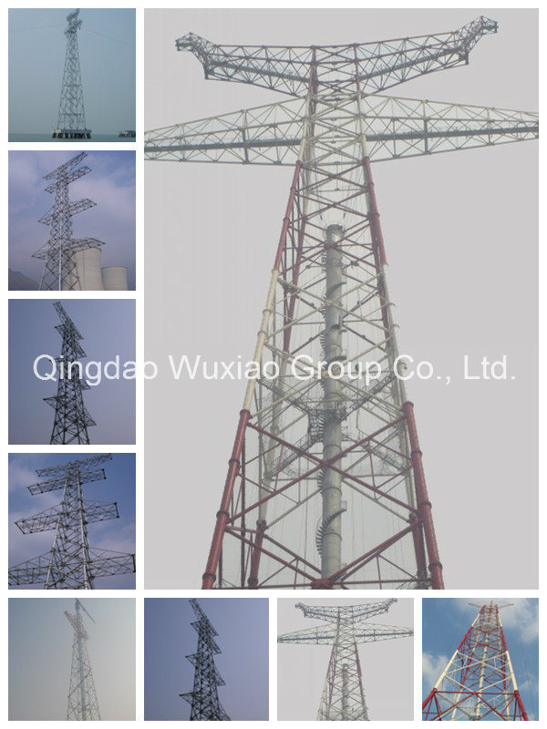 Power Transmission Line Steel Tower for Power Transmission