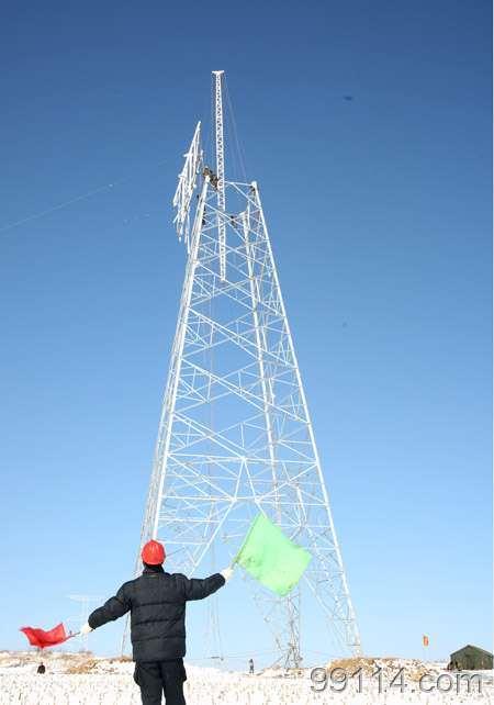 500kv River Crossing Transmission Line Steel Tube Tower